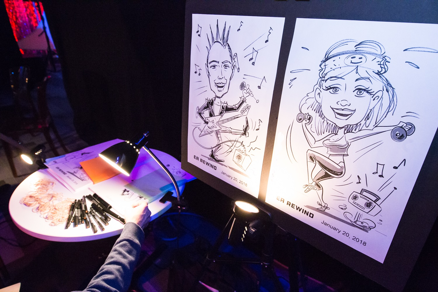 Vancouver Caricature Artists For Hire Houle Games Entertainment