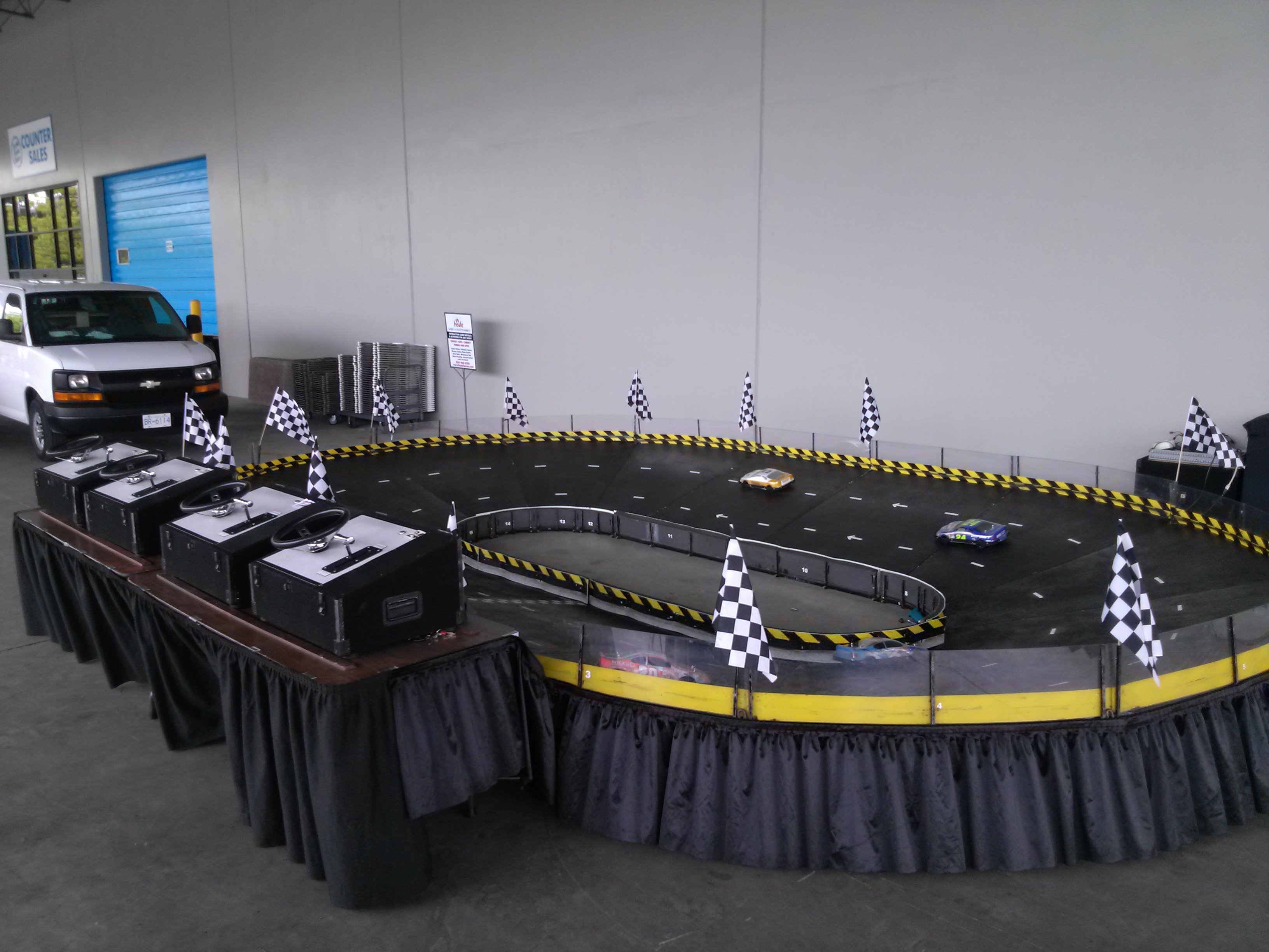 Micro Reality Stock Car Racing - Houle Games Event Rentals