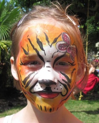 A lovely painted face!
