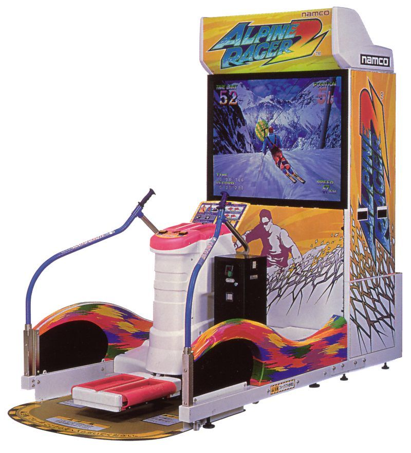 Image result for skiing arcade game
