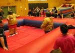 Sumo Wrestling at a dry grad