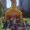 Everyone will line-up for a jump in the giraffe!